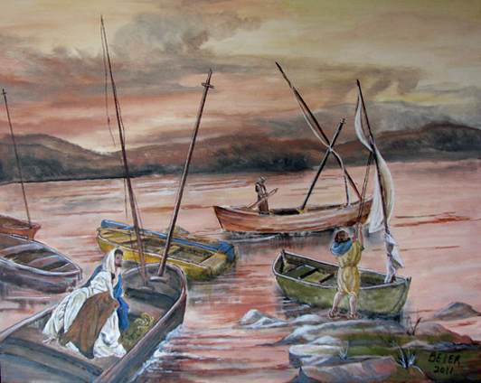 Fishing Boats on the Sea of Galilee